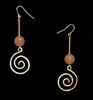 Rose Quartz Earrings with Spiral